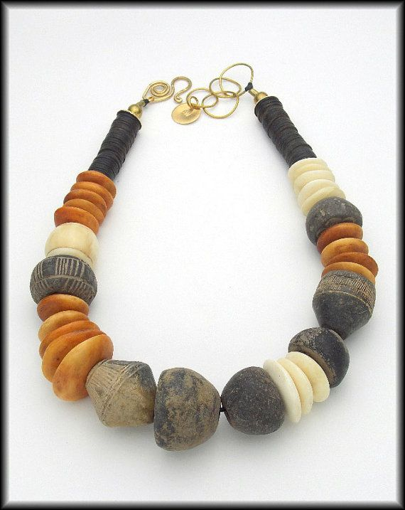 ANCIENT SPINDLES  Ancient African Spindle by sandrawebsterjewelry, $259.00