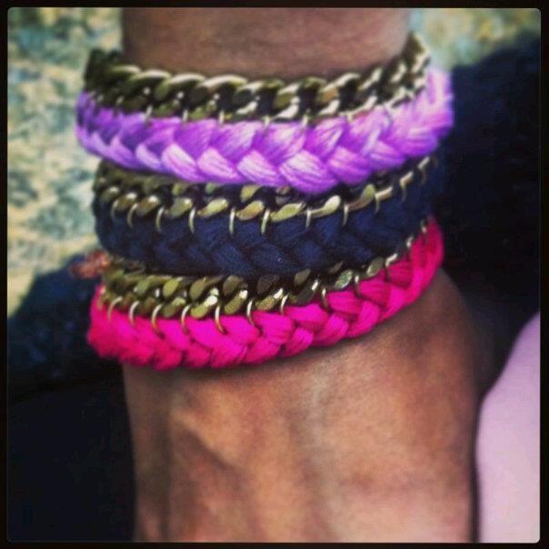 pulseras tejidas! love colors