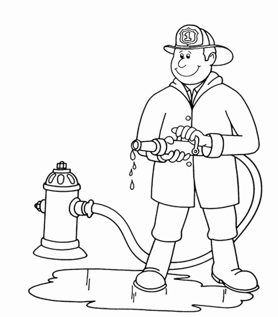 Fire Fighter Coloring Page New Fireman Coloring Pages for