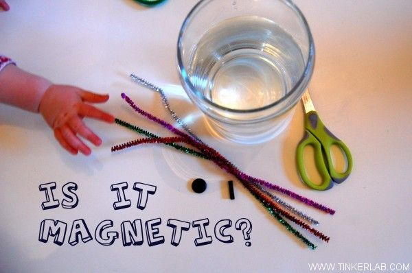 Is it magnetic? Fun ways to test objects for magnetism with toddlers and preschoolers.