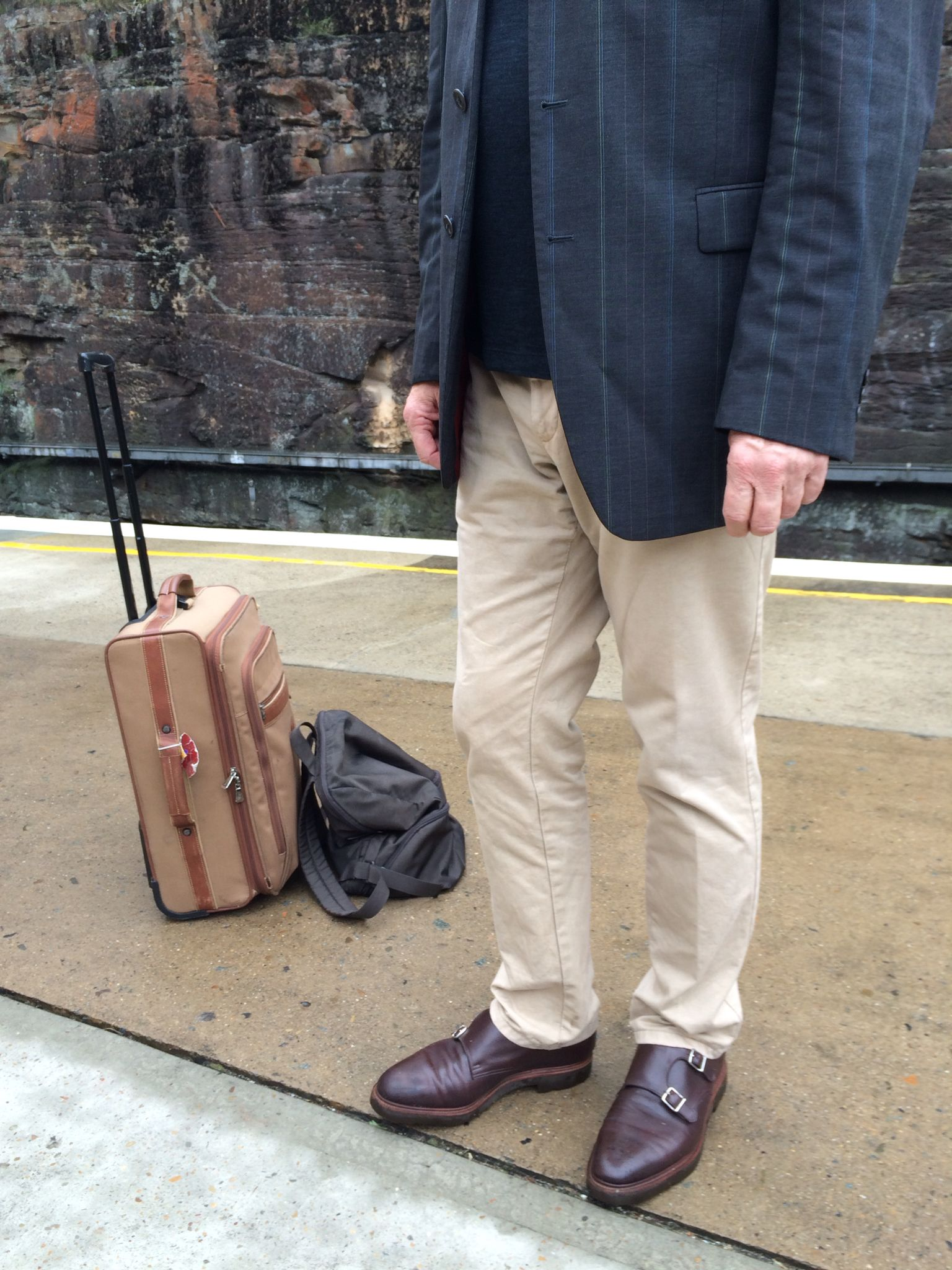 John Lobb William II, rare plain toe model. Kenzo Homme jacket, Gant  trousers. Long champ travel bag and Mandarina Duck back pack. 5236b63674a
