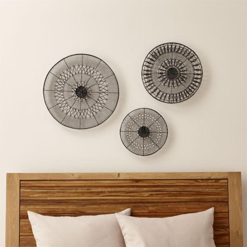 intricate circle metal wall art 3piece set