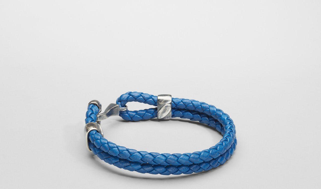 Bottega Veneta® Électrique Intrecciato Oxidized Silver Nappa Bracelet Bracelet Jewelry