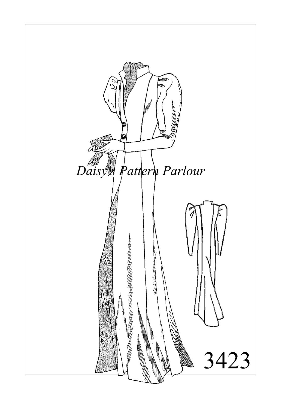 Vintage Sewing Pattern 1930 Evening Cloak Victorian Edwardian ...