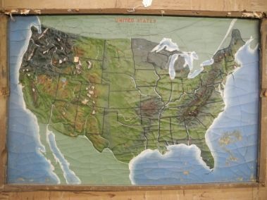 Relief Map Of The United States US Geographical And Geological - Relief map us