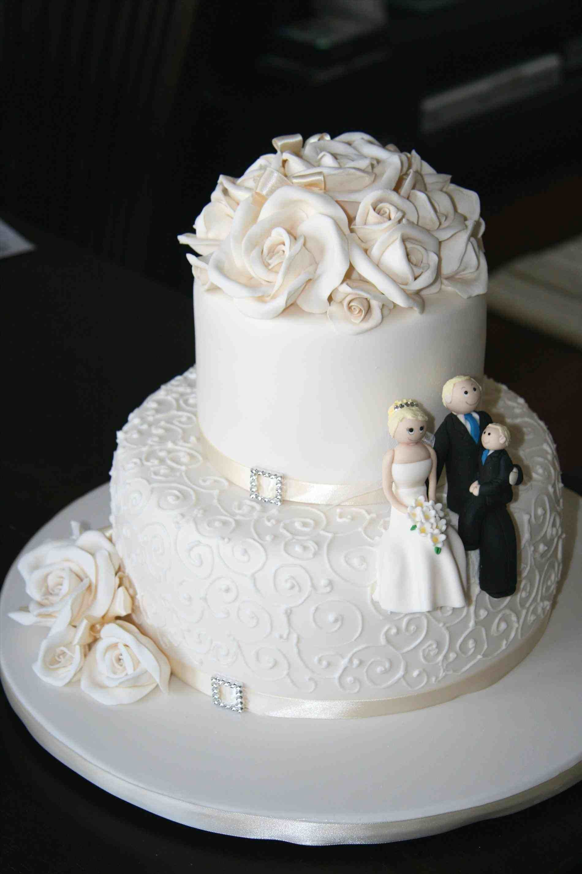TwoTier Round Wedding Cakes in 2020 (With images