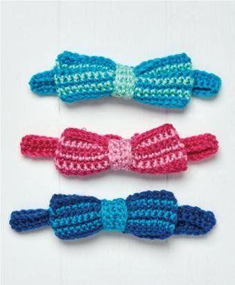 Free Pattern Crochet Bow Ties Pretty Accessories Pinterest