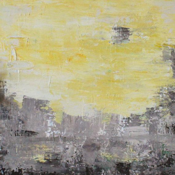 abstrakt gelb acryl auf leinwand 50x50 cm bilder pinterest leinwand acryl und abstrakte. Black Bedroom Furniture Sets. Home Design Ideas