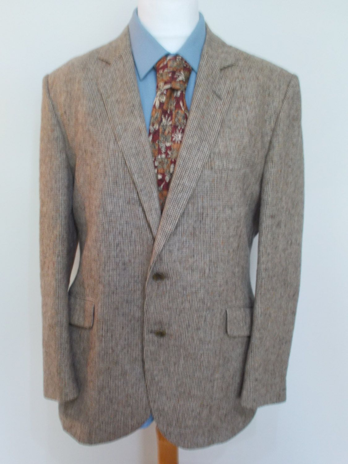 Vintage mens Navy Blazer jacket by Kenzo wool with logo buttons 40