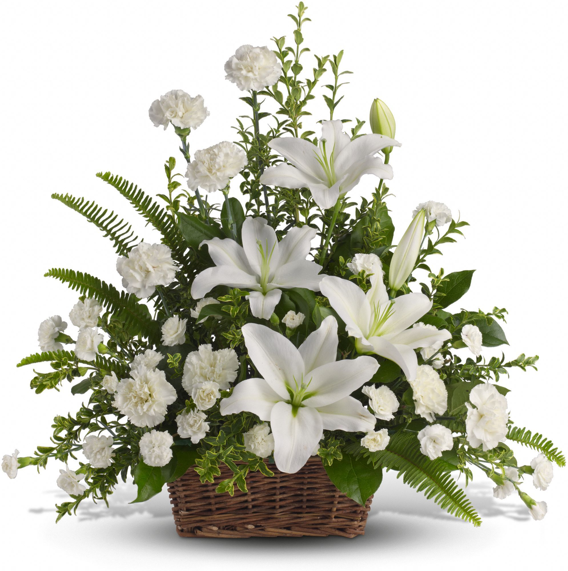 As peaceful and beautiful as a starry night this pure white funeral bouquet