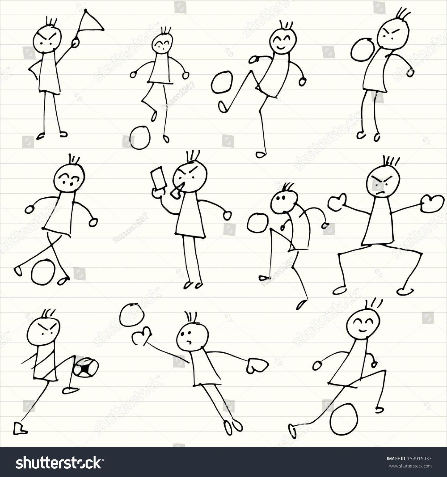 Kids Playing Soccer Doodles Kids Playing Football Doodle Doodle Play