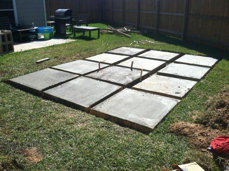 Diy paver and pebble mosaic patio in 2020 large backyard