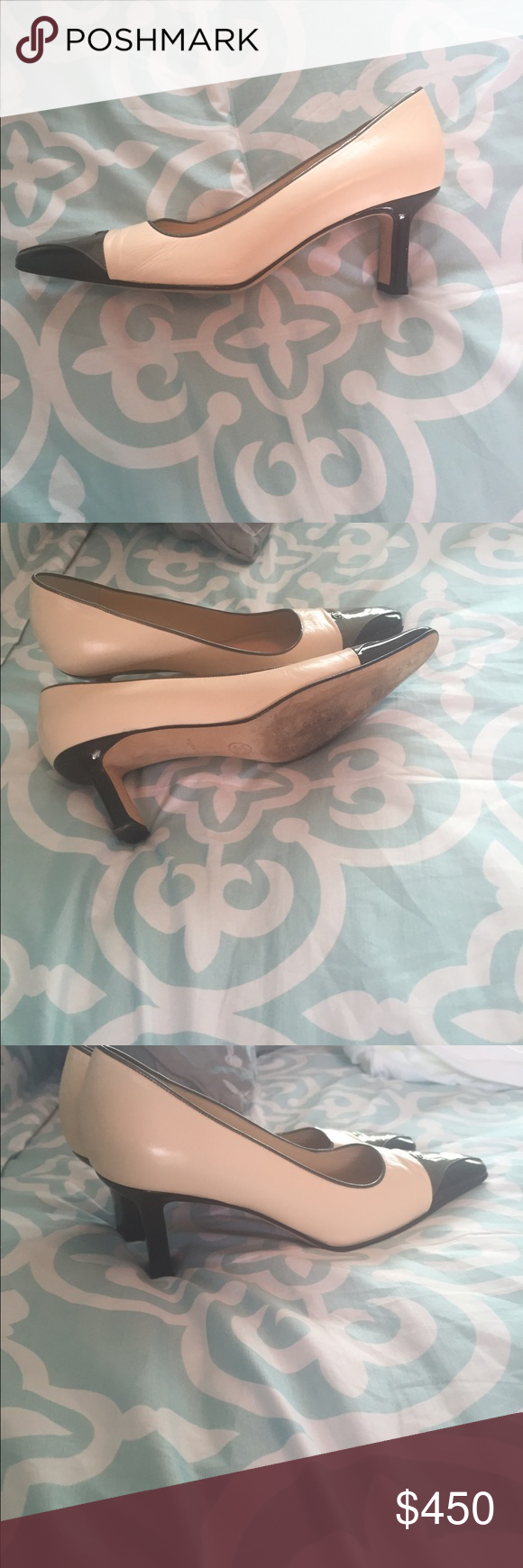 CHANNEL shoes excelent condition! CHANNEL shoes Tricolor like new! Authentic! CHANEL Shoes Heels