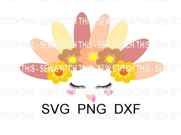 thanksgiving svg turkey svg turkey face svg turkey with eyelashes turkey with