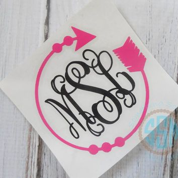 Shop monogram vinyl car decal on wanelo