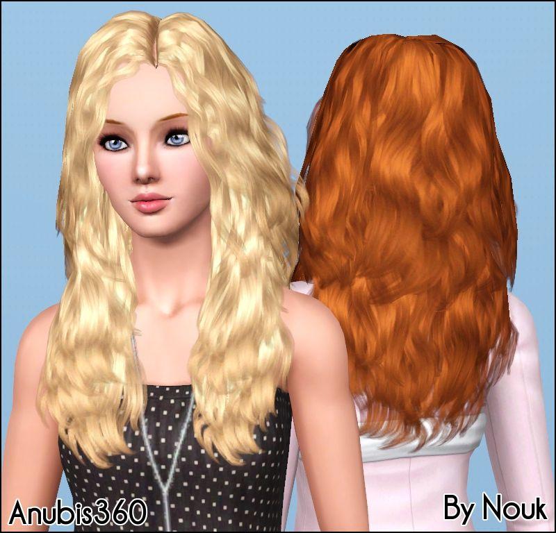 nouk's long wavy hair converted