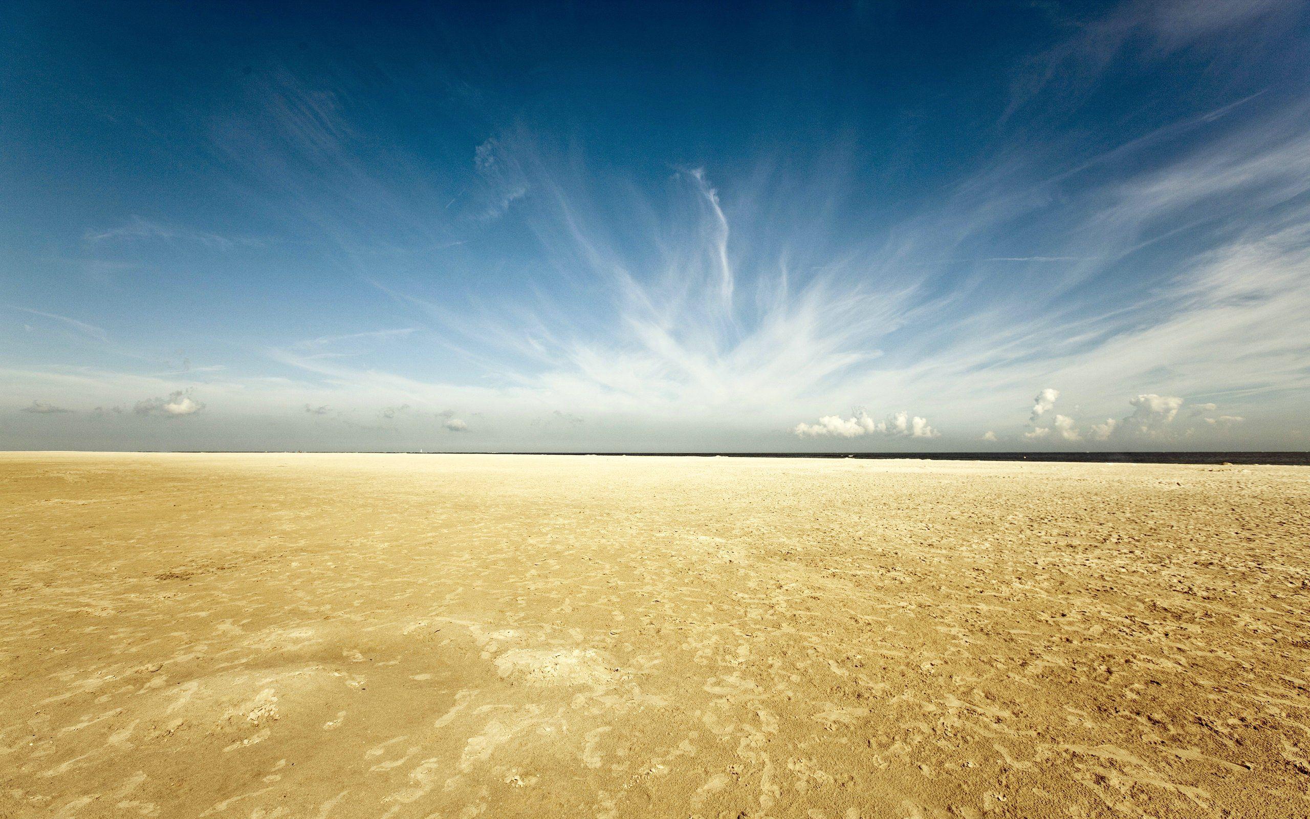 Sky Clouds Desert Sand Horizon Landscape Wallpaper Sand Pictures Nature Desktop Wallpaper