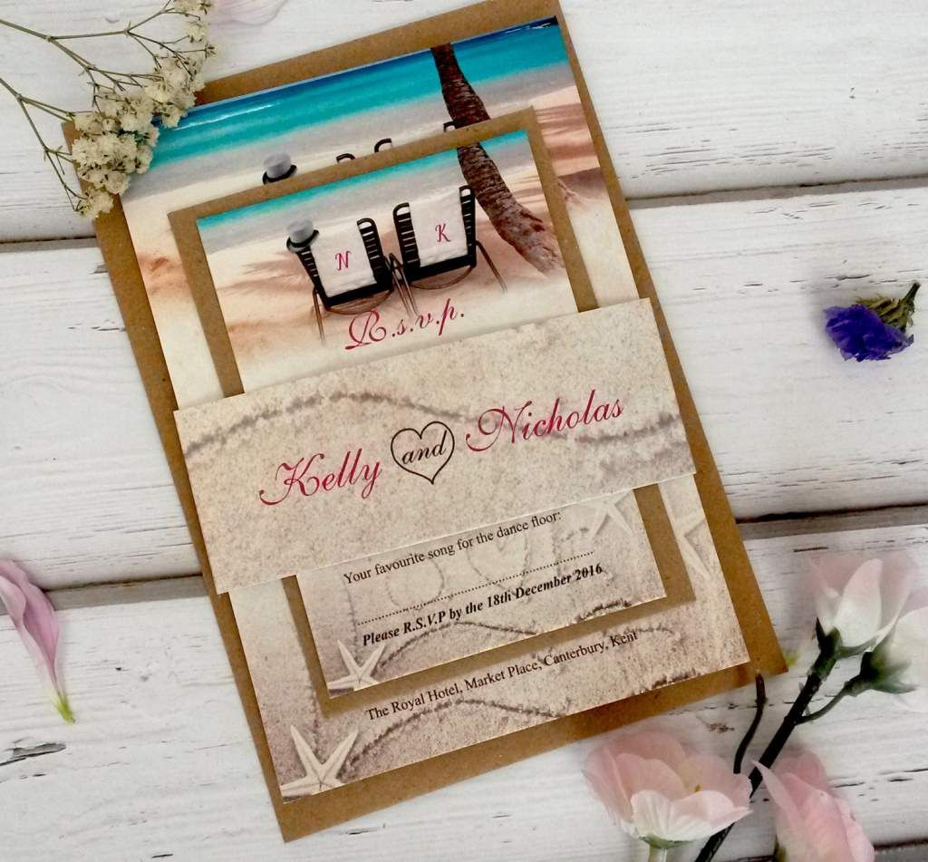 Beach Theme Wedding Invitation Templates Free Bridal Wedding - Wedding invitation templates: beach theme wedding invitation templates free