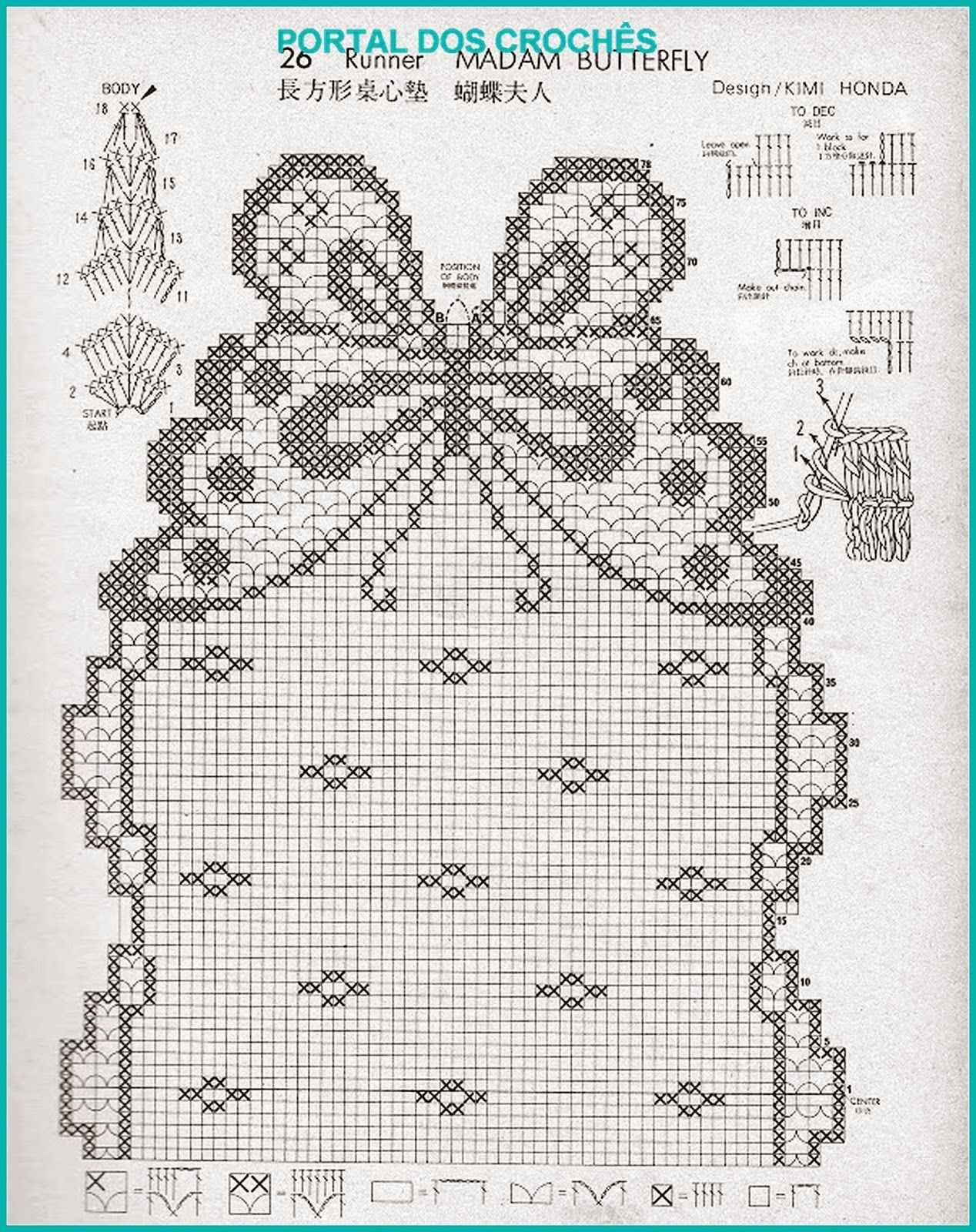 Centro Em Croche Com Borboletas Filet Crochet Tapete De Croche