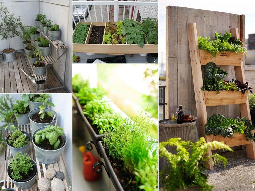 5 consejos para decorar balcones peque os con encanto - Pequeno huerto en casa ...
