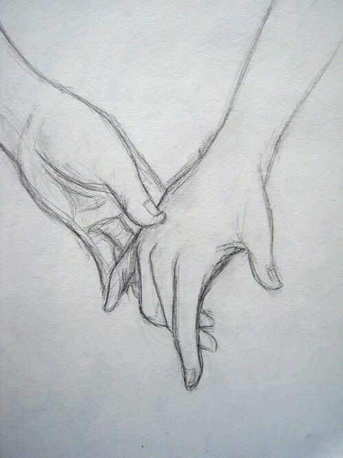 Touching Hands Sketch Pencil Drawing Images Easy Drawings Drawing Images