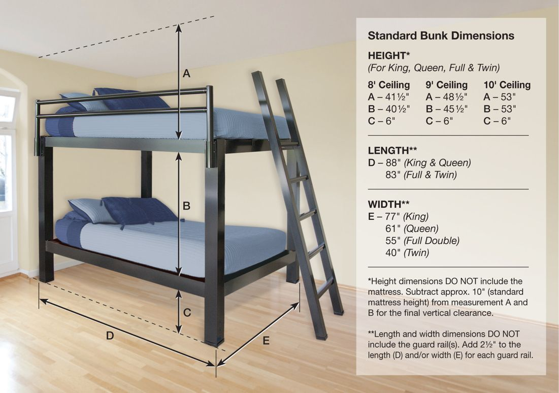 Bunk Bed Heights Google Search Adult Bunk Beds Cool Bunk Beds Bunk Beds