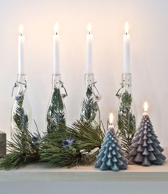 So funktioniert der Look »Nordische Weihnachten«: Adventskranz mal anders! Ein…
