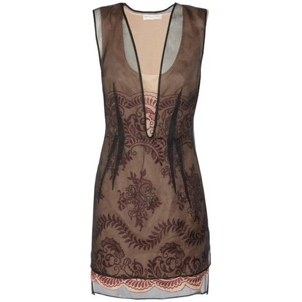 f2f2d1ba3e6b4 Preowned Stella Mccartney Embroidered Organza Dress 38 - 2   liv Wore.
