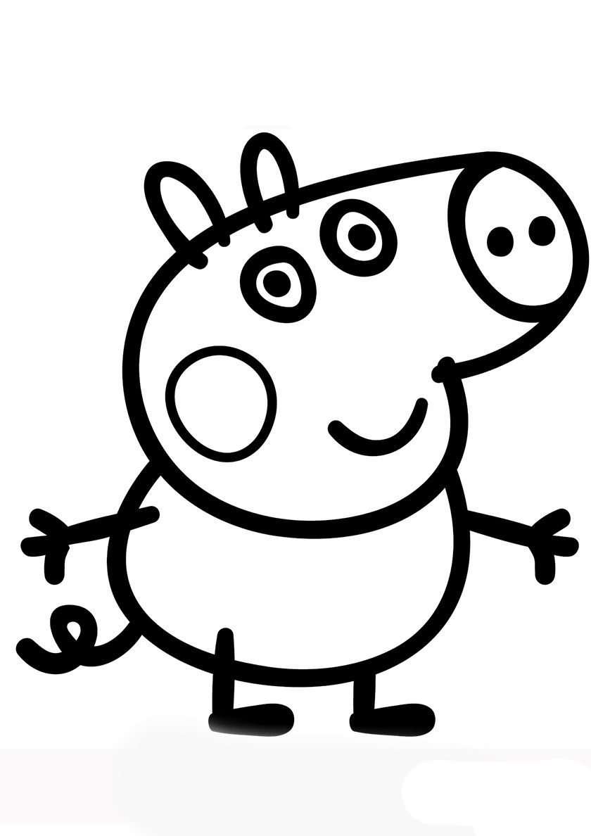 George Pig - high-quality free coloring from the category: Peppa Pig. More  printable pictures on… | Peppa pig coloring pages, Peppa pig colouring, Peppa  pig drawing