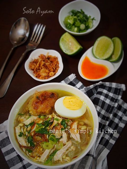 Resep Soto Ayam Resep Masakan Masakan Makanan Dan Minuman