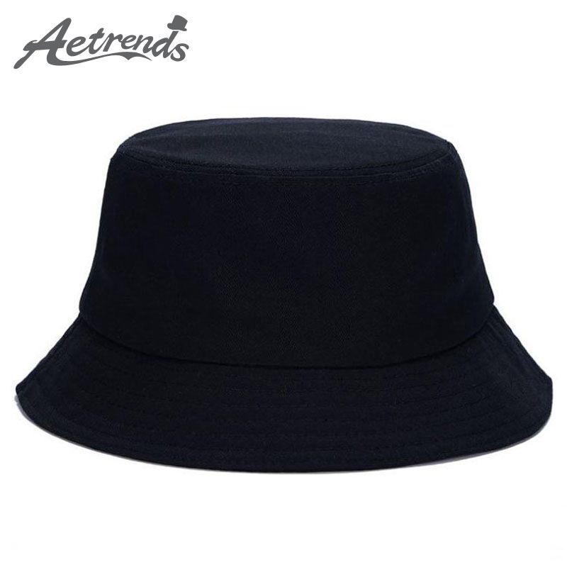 AETRENDS  10 Colors !! Solid Color Bucket Hats for Men Panama Women ... ce2b2e03001