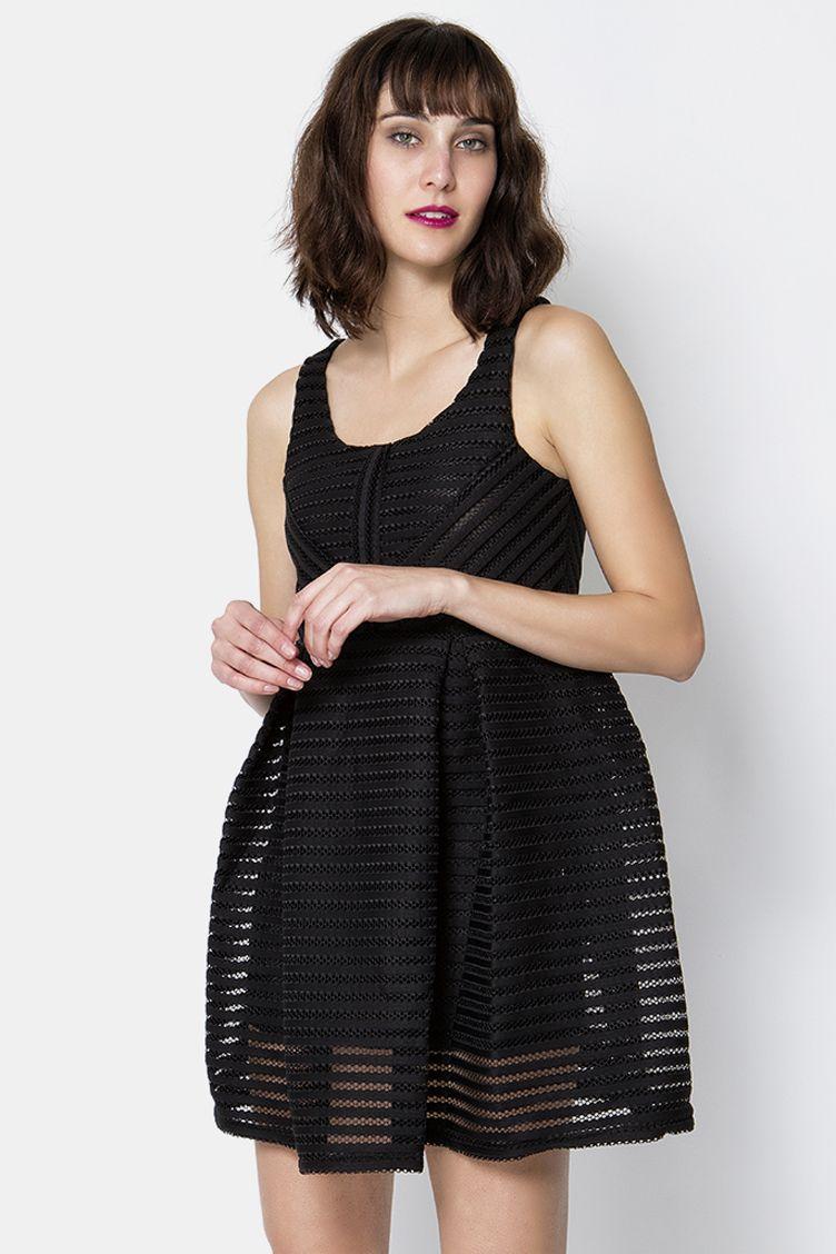 c3d777deae12 Balloon αμάνικο φόρεμα με ανάγλυφη υφή