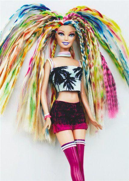 Barbie X Bleach Barbie Hairstyle Bleach London Barbie Hair