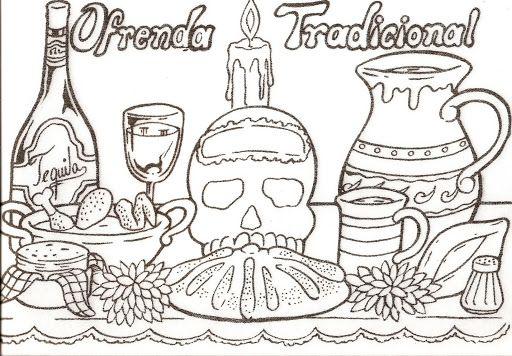 Ofrenda Tradicional Ofrenda De Muertos Dia De Muertos Ofrendas Dia De Muertos