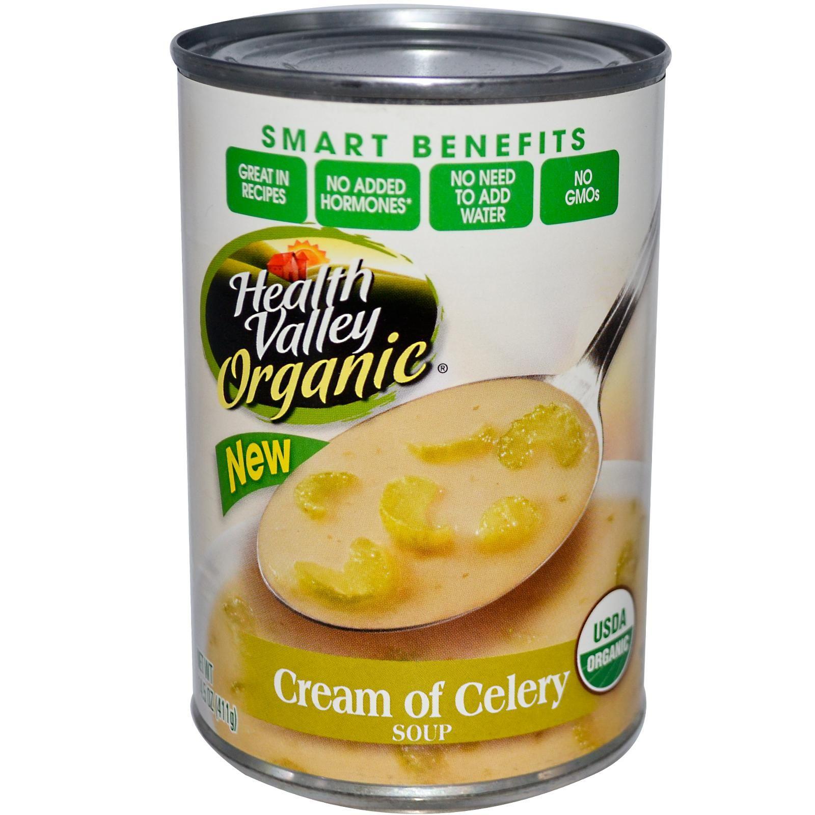 Health Valley, Organic Soup, Cream of Celery, 14.5 oz (411