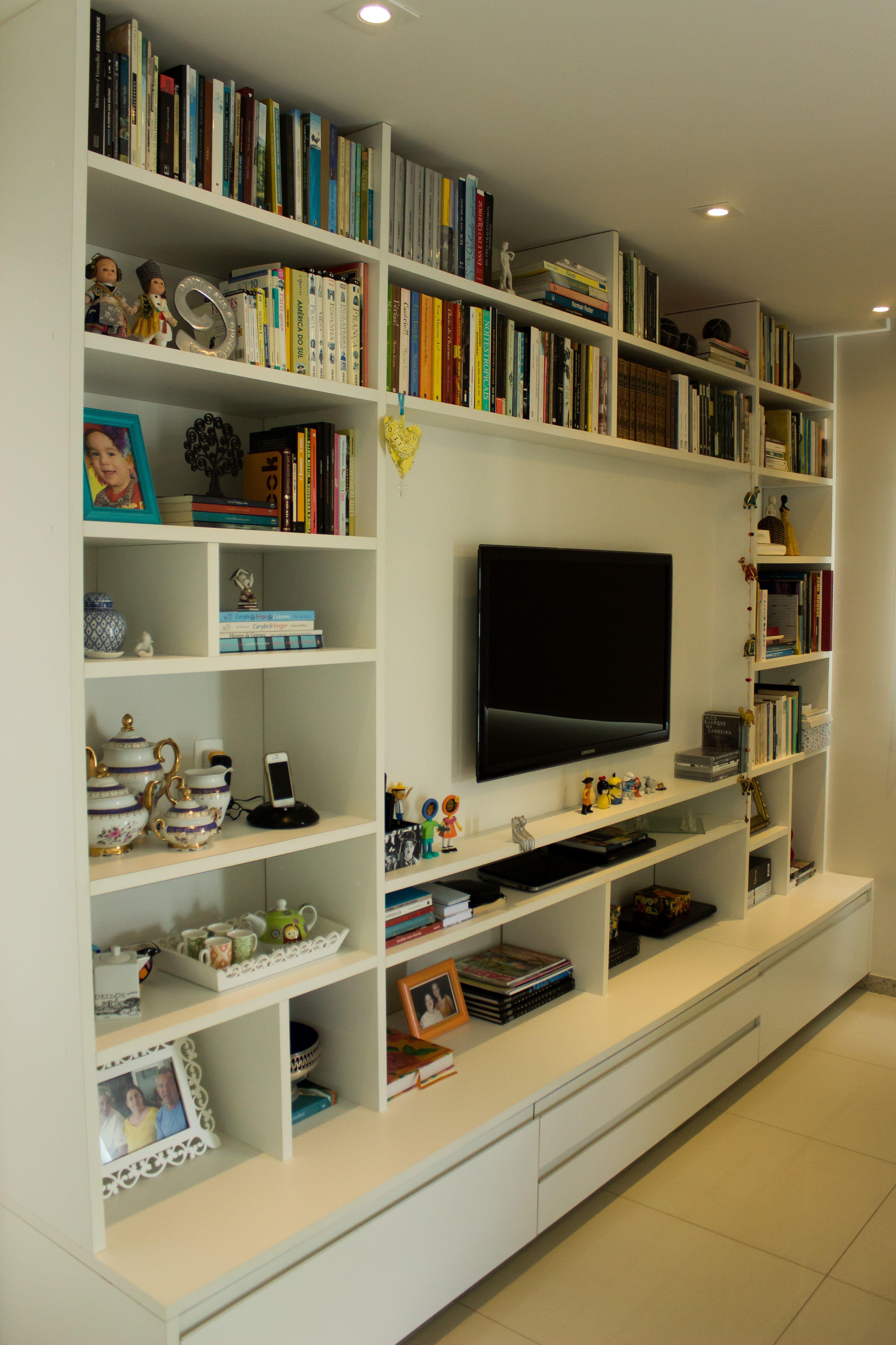 Pin De Louisa En Living Room Pinterest Bibliotecas Sala De  -> Sala De Tv E Biblioteca
