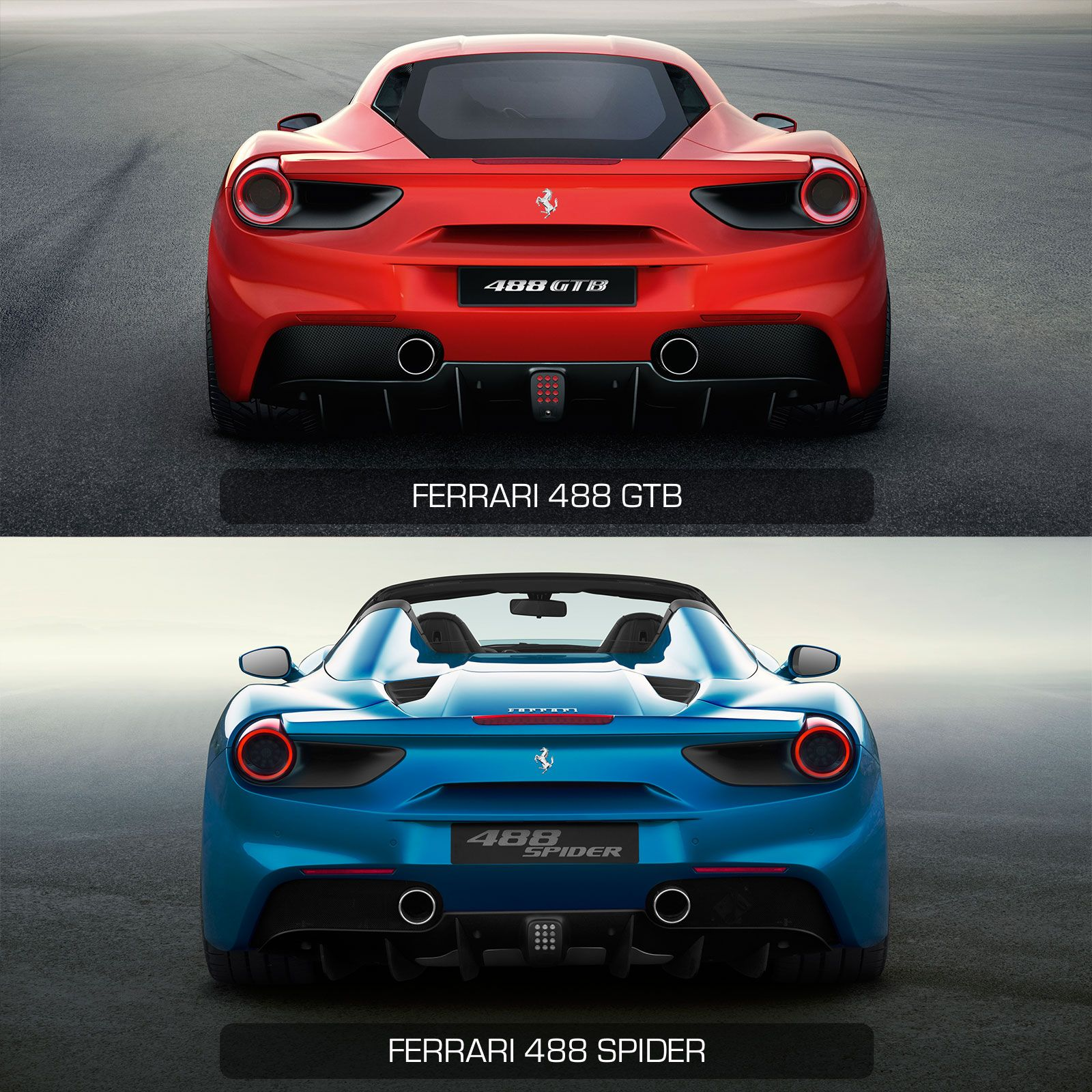 Ferrari Gtb Vs Ferrari Spider Rear View Design