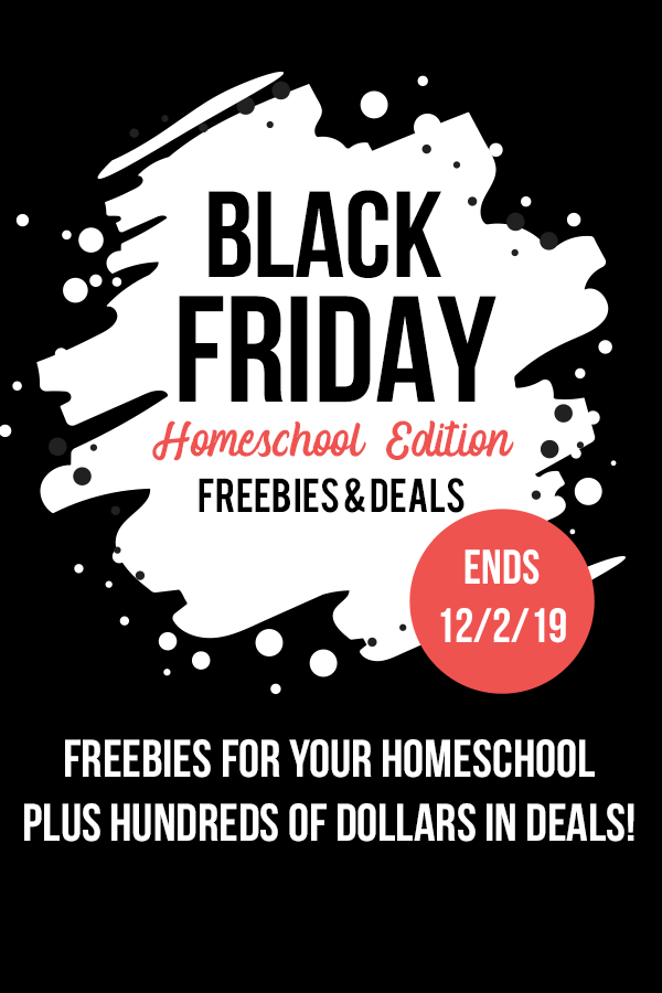 Looking for homeschool sale ads for Black Friday & Cyber Monday?  Look no further! Find all the best deals for homeschoolers PLUS get some FREEBIES! (No email required!) #blackfriday #cybermonday #homeschoolgiveaways