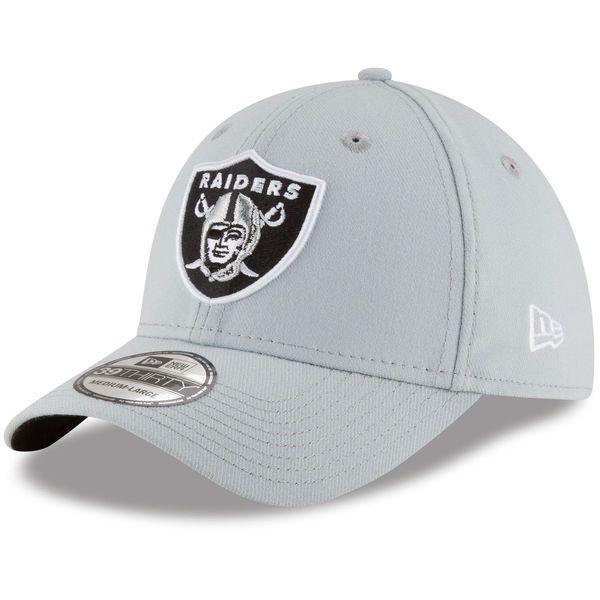 b5c93bada1e Men s Oakland Raiders New Era Team Classic 39THIRTY Flex Black Hat ...