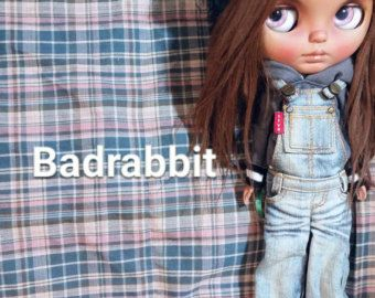 Badrabbit custom blythe for adoption ooak art doll