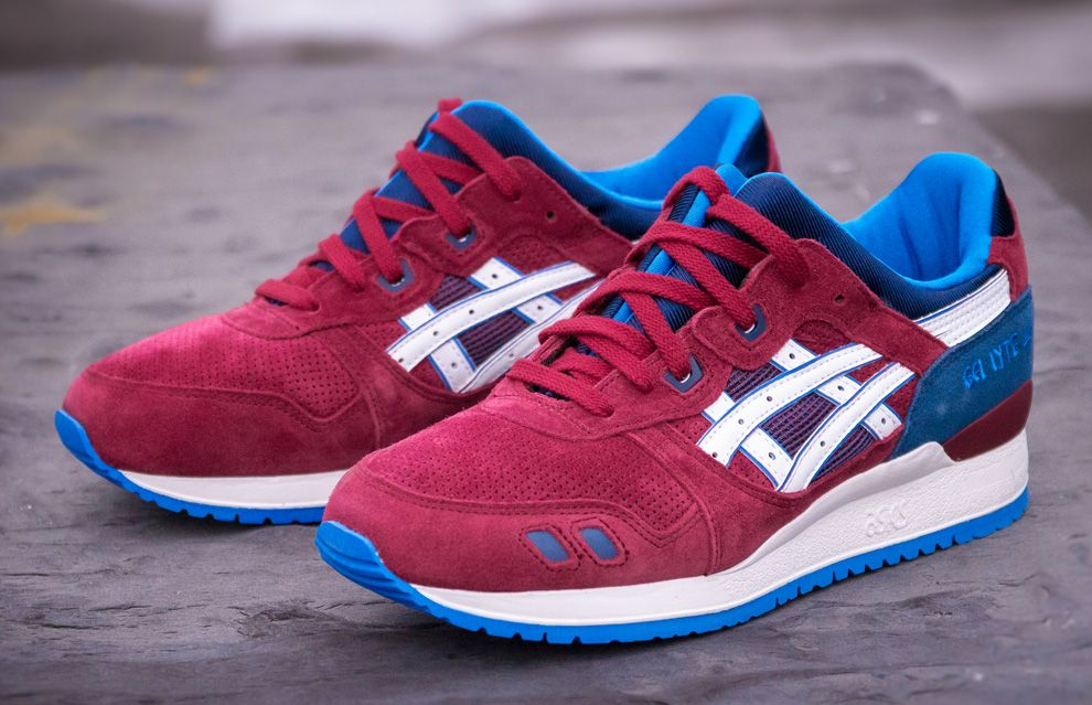 asics gel lyte blue and red