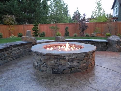 firepit gas fire pits outdoor stone