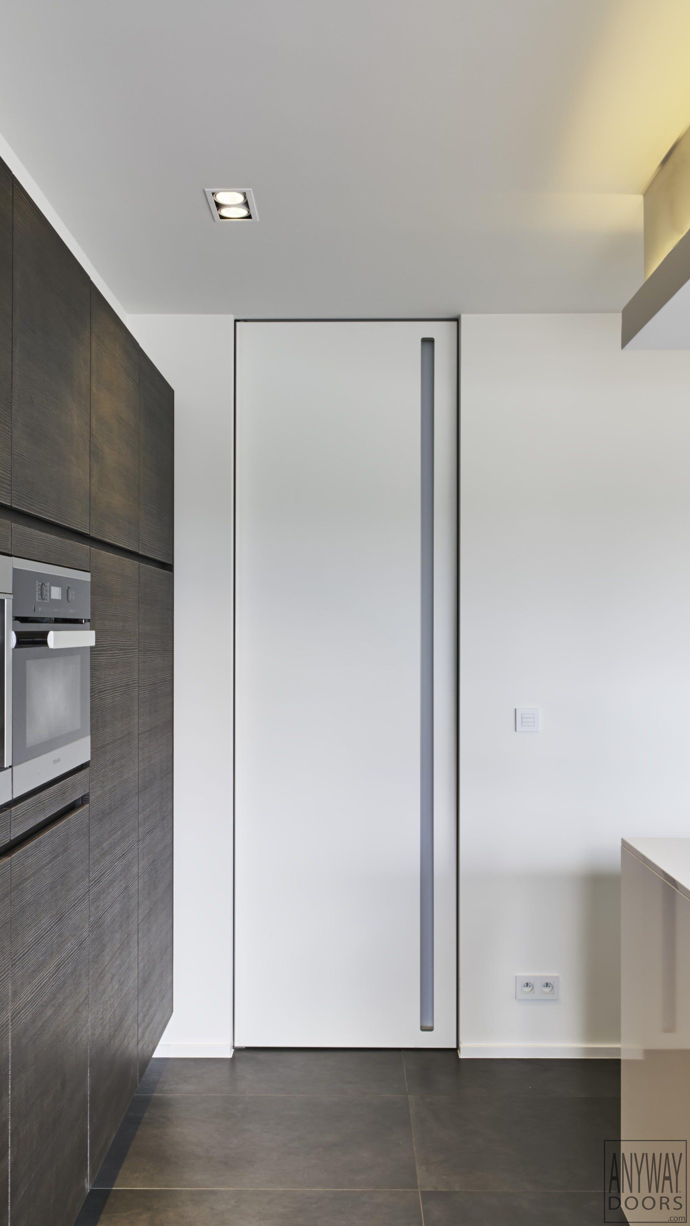 Modern Interior Door With Invisible Door Frame   ANYWAYdoors