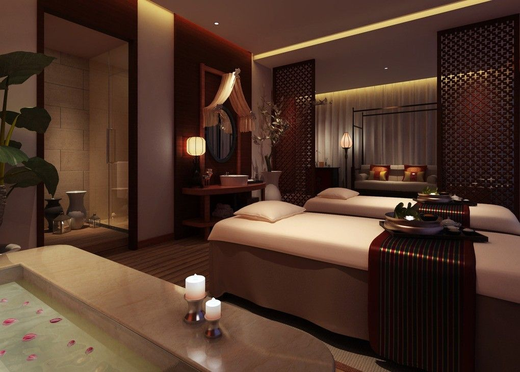 Spa massage room interior design 3d 3d house free 3d for Room interior design images