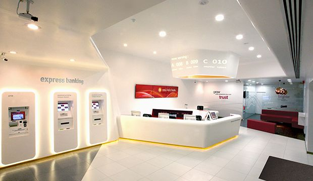New India Bank I Am Bank Interior Design Bank Design Retail Space Design