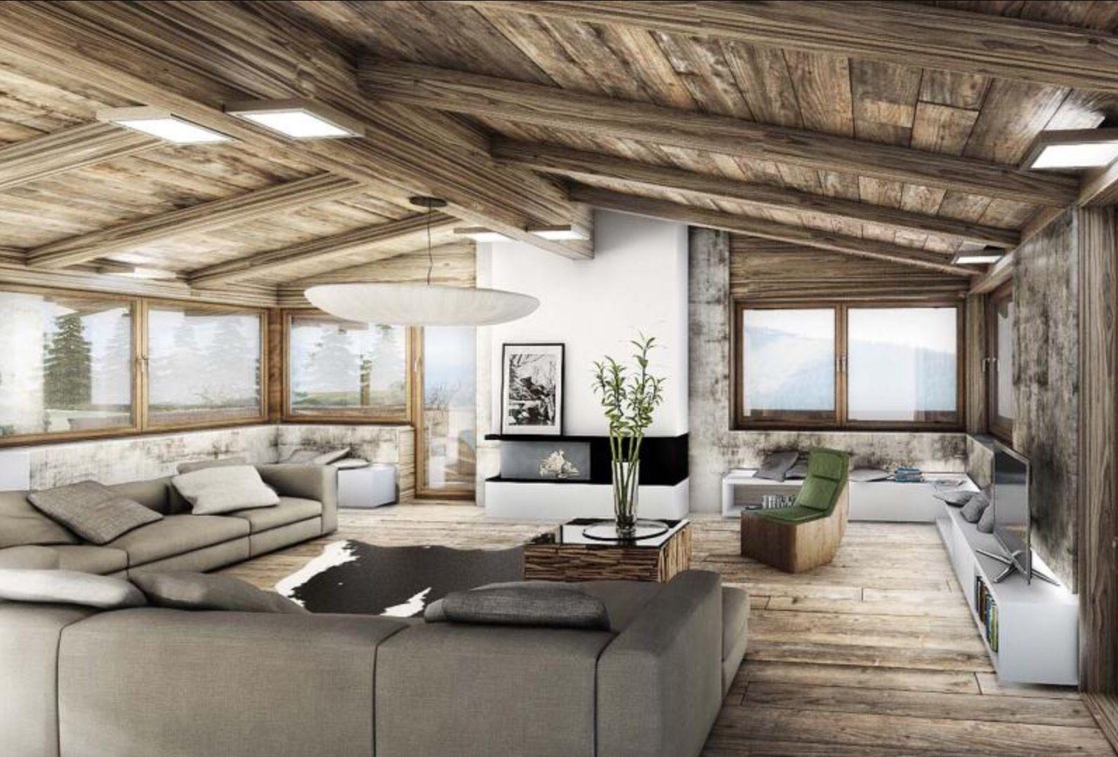 Liegewiese wohnzimmer ~ Chalet kitzbühel Österreich wohnen pinterest kitzbühel