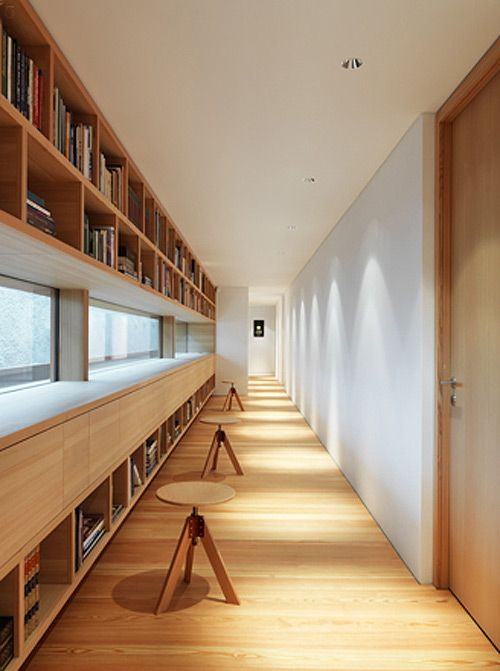 Swiss architect Ralph Germann is all about modern but warms it up with lots of wood.