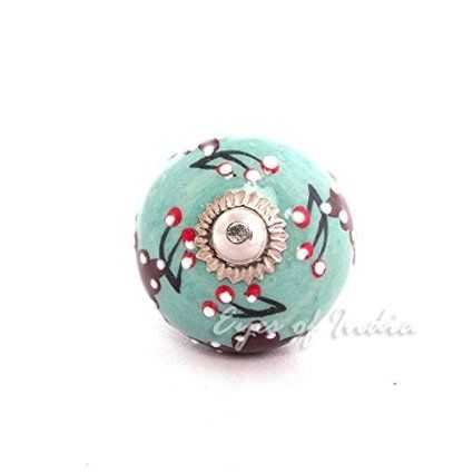 Amazon.com - COLORFUL CERAMIC CABINET CUPBOARD DRESSER Drawer Flower Knobs Decorative Pull -