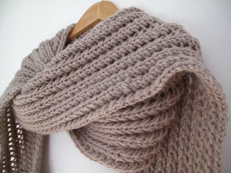 modele tricot pour foulard
