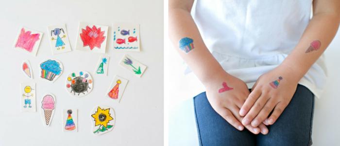 DIY : Tatouages temporaires pour enfant